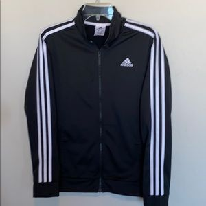 Adidas Black Striped Track Jacket